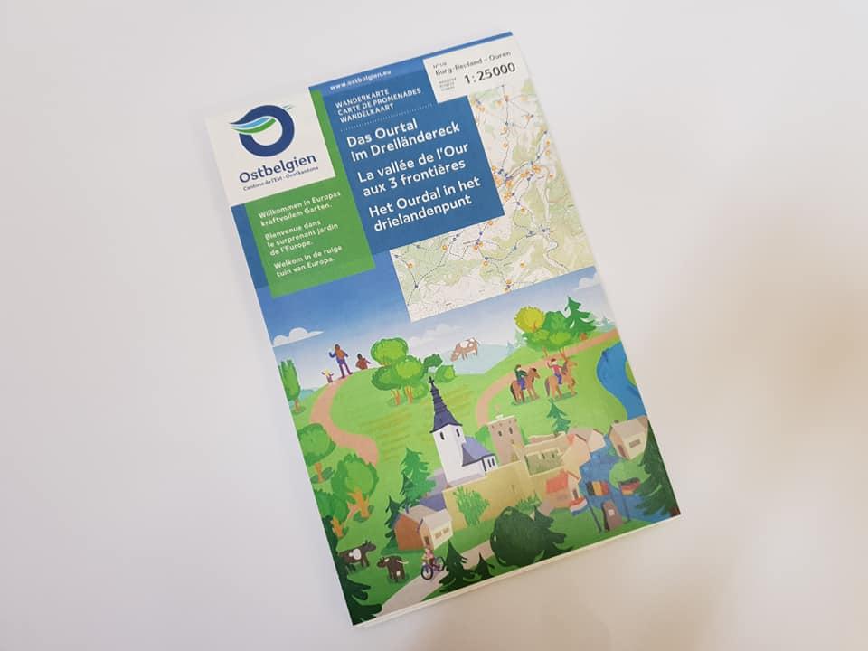 Wandelkaart: Het Ourdal in het drielandenpunt