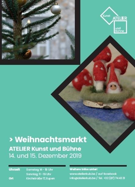Weihnachtsmarkt im Atelier Kunst und Bühne