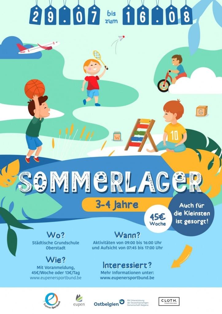 Sport- und Ferienlager des Eupener Sportbunds für Kinder von 3 - 4 Jahren
