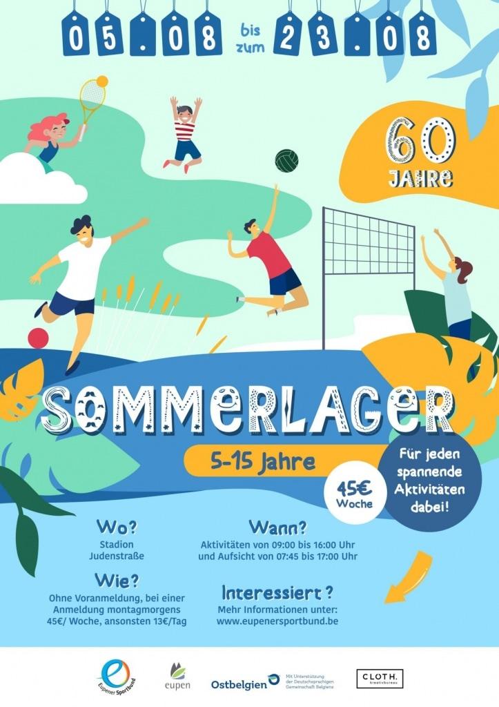 Sport- und Ferienlager des Eupener Sportbunds für Kinder und Jugendliche zwischen 5 - 15