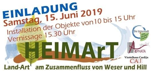 """""""HEIMArT"""" unter diesem Motto steht die Land-Art-Ausstellung am Zusammenfluss von Weser und Hill"""