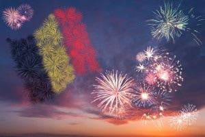 Groot volksfeest ter gelegenheid van de Nationale Feestdag