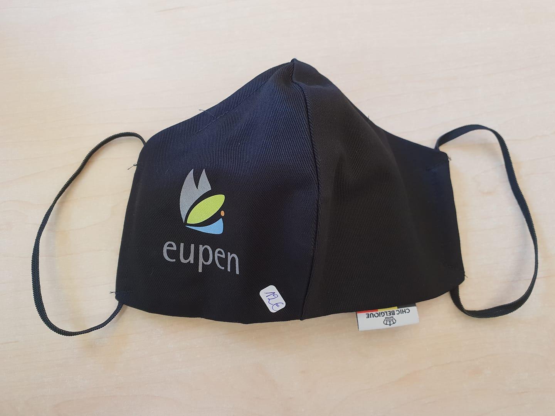 Mundschutz mit Eupen Logo